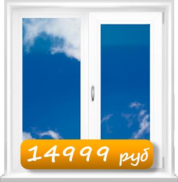 Пластиковое окно Идеал 1150х1420